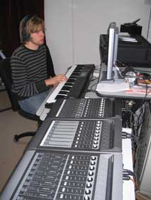Music Production student